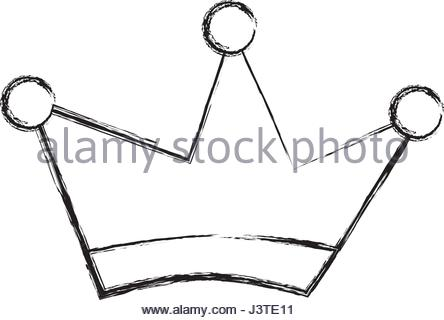 444x320 King Crown Drawing Isolated Icon Stock Vector Art Amp Illustration