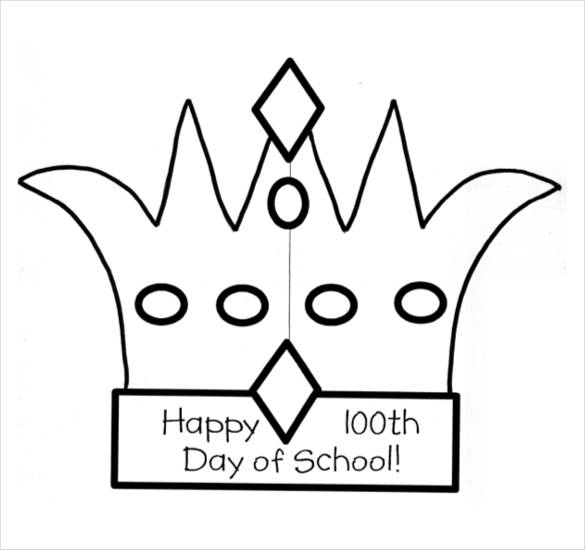 585x550 Paper Crown Template