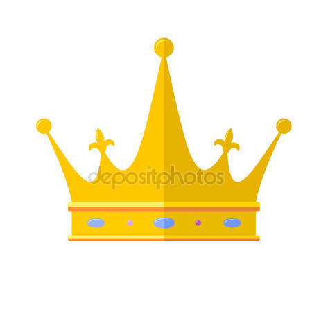 450x450 Royal Crown Flat Icon, Isolated On White Background. Outline Icon
