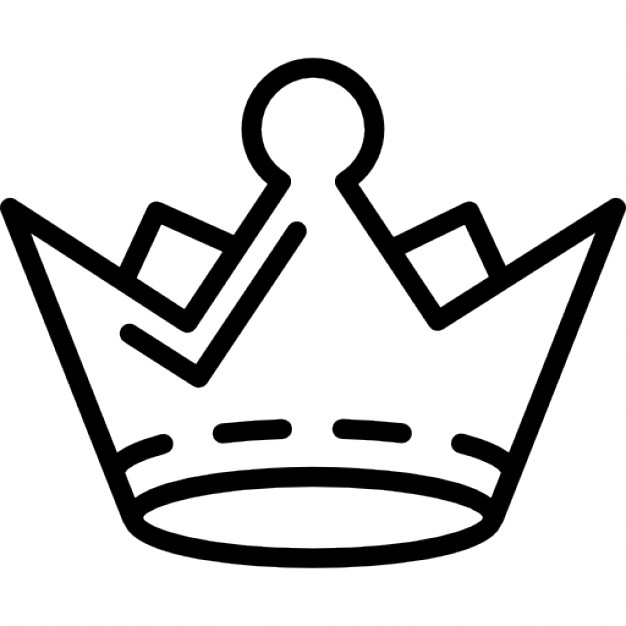 626x626 Royal Crown Outline Icons Free Download