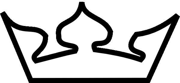 600x278 Crown Outline Clip Art