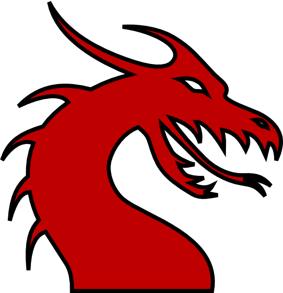 576x596 Dragon Head Silhouette Red Clip Art