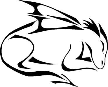 370x300 Dragon Clipart Simple Line Art