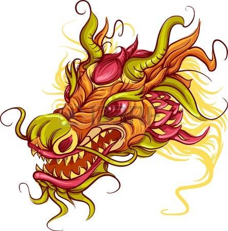 445x450 Dragon Head Clipart