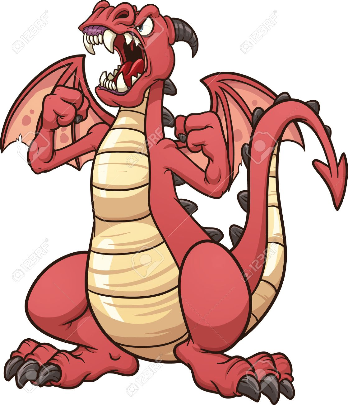 1119x1300 Angry Cartoon Dragon Vector Clip Art Illustration With Simple