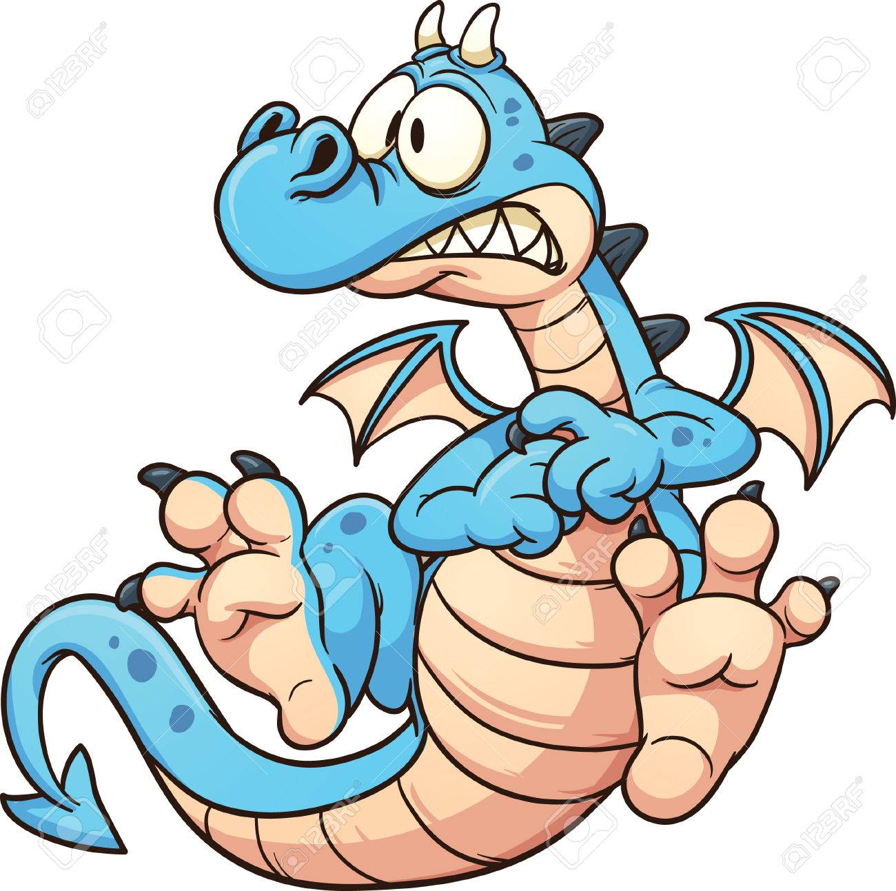 1300x1293 Blue Dragon Clipart Simple