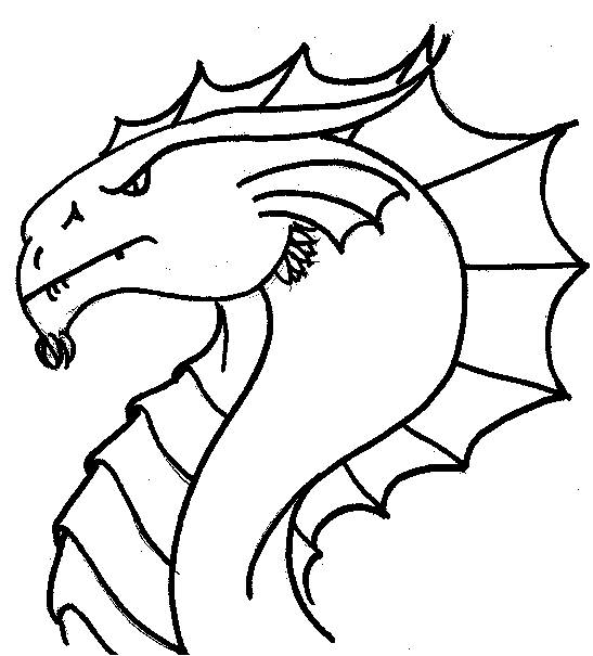547x605 Coloring Pages Draw A Simple Dragon