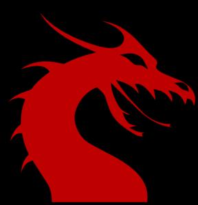 288x298 Dragon Head Silhouette Red Clip Art