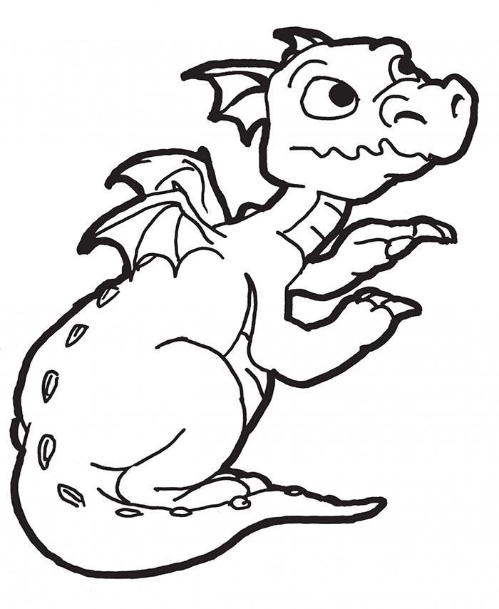 700x854 Dragon Template