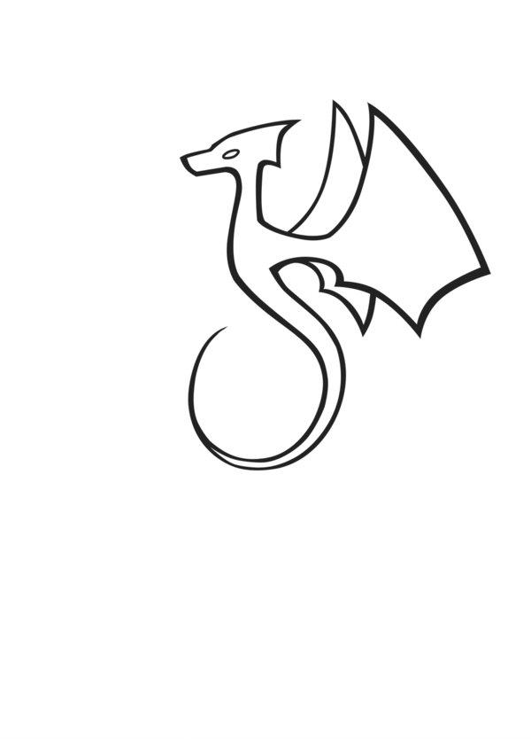 600x834 Simple Dragon