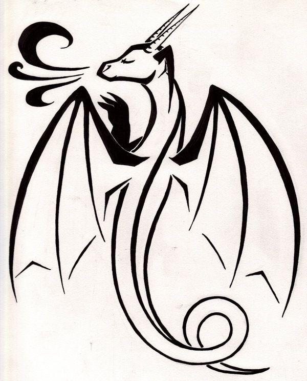 600x743 Simple Dragons
