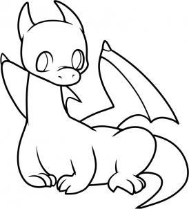 274x302 Dragon Clipart Simple Line Art