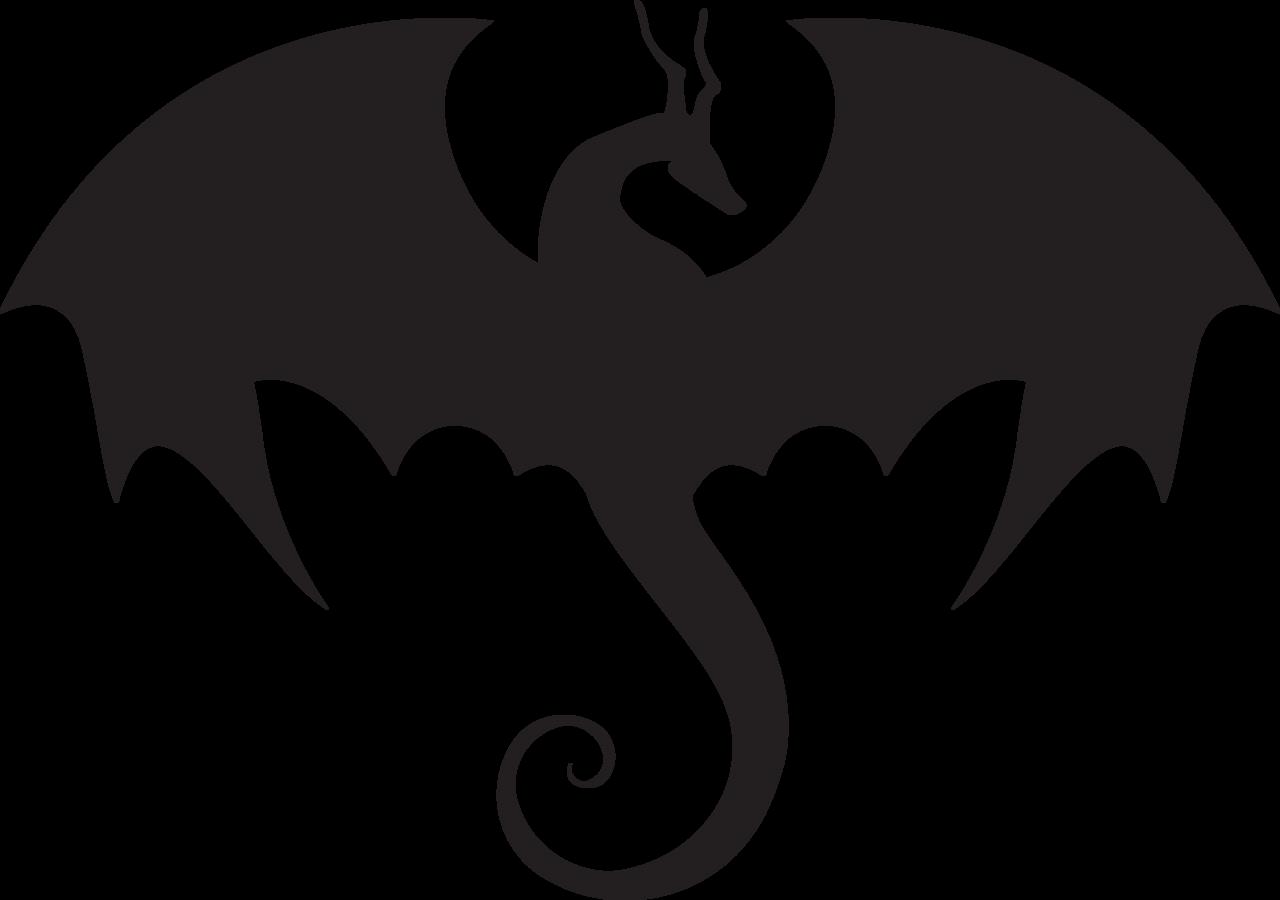 1280x900 Silhouette Clipart Dragon