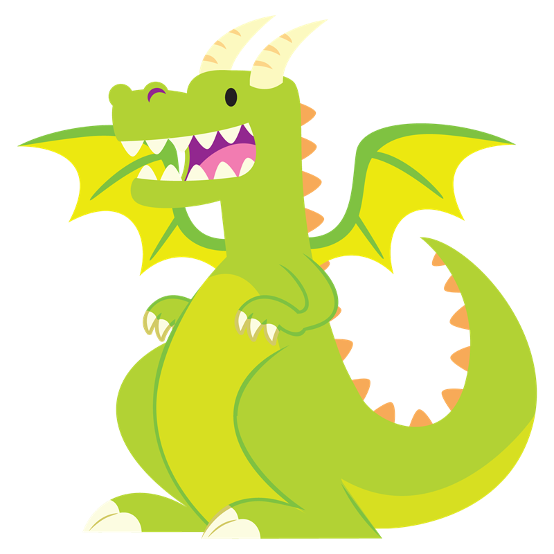 800x800 Simple Dragon Clipart
