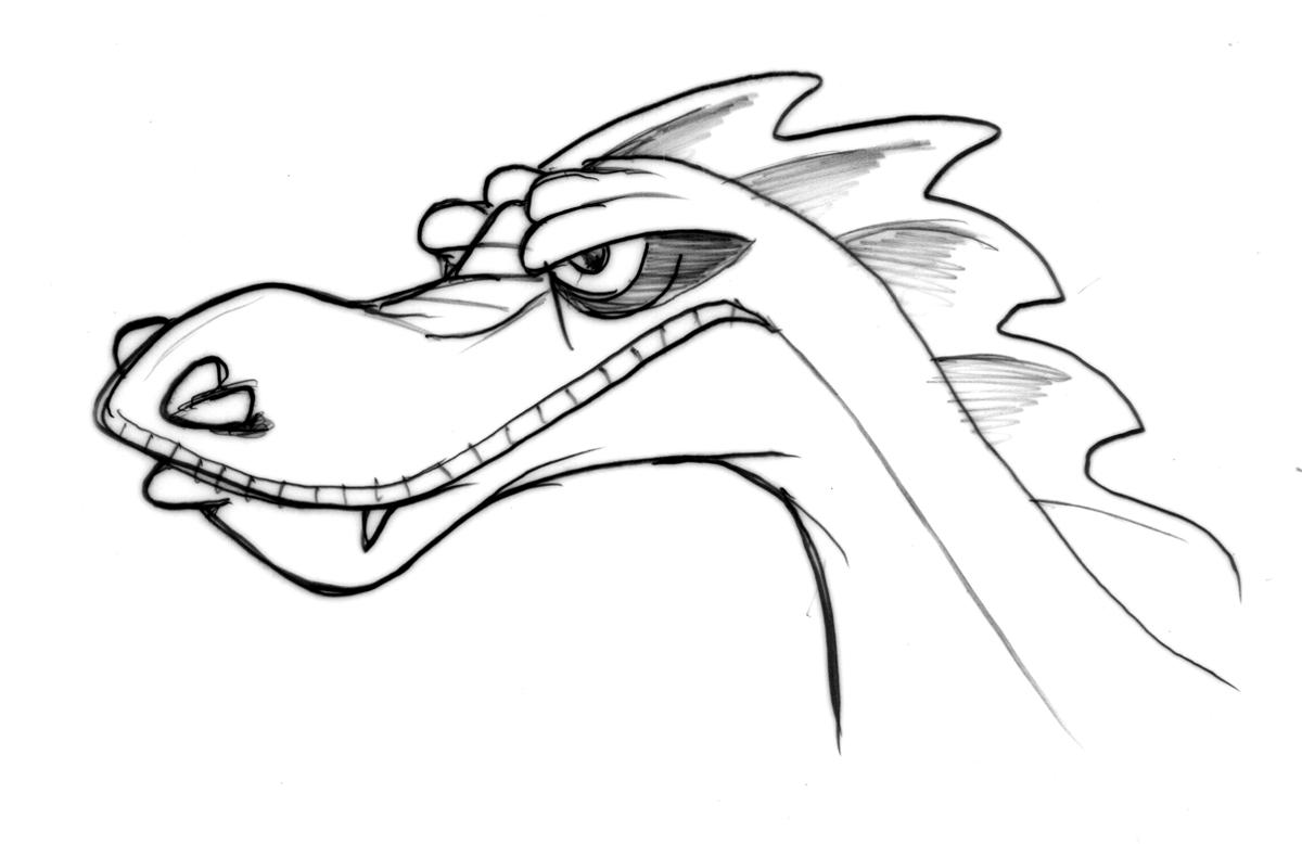 1200x778 Simple Dragon Head Drawing