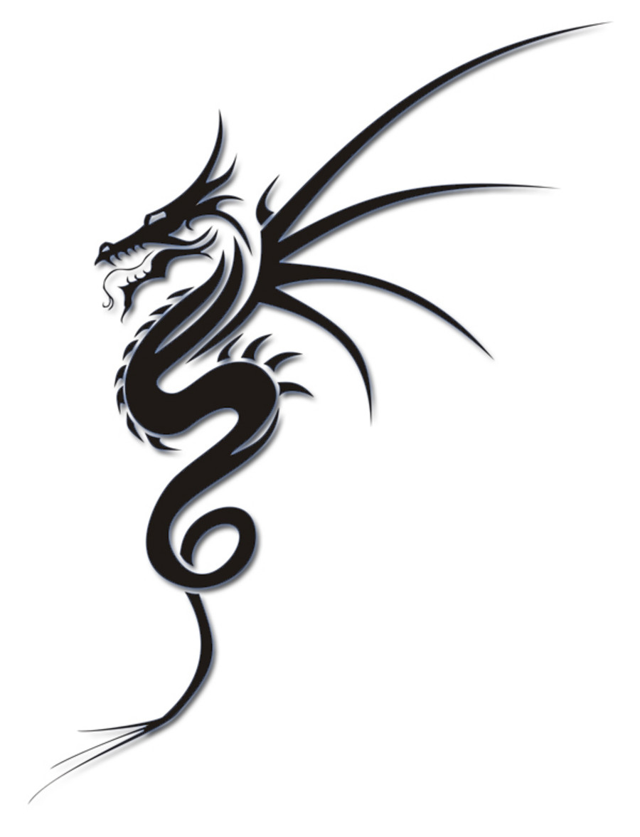 900x1176 simple dragon outline