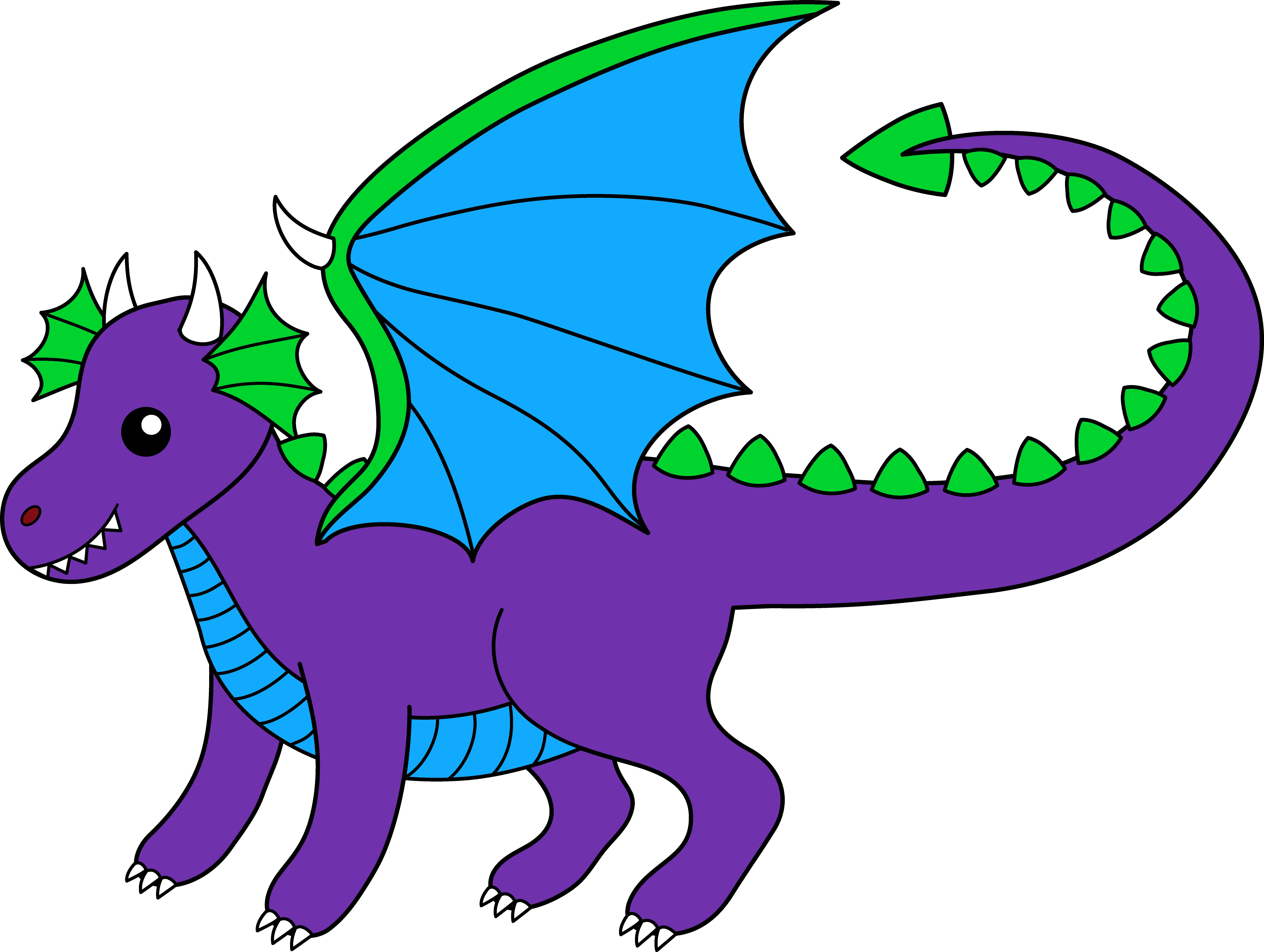 8480x6389 Blue Dragon Clipart Simple