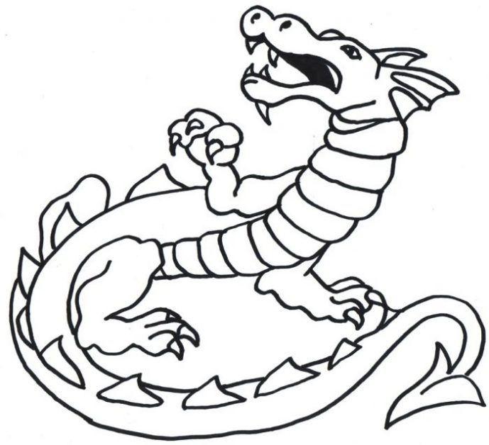 689x628 Coloring Page Outstanding Coloring Pages Draw A Simple Dragon