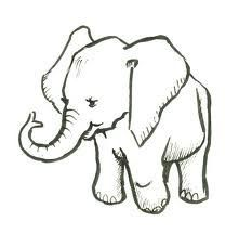 221x228 Drawn Elephant Simple
