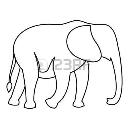 450x450 Elephant Icon. Outline Illustration Of Elephant Vector Icon