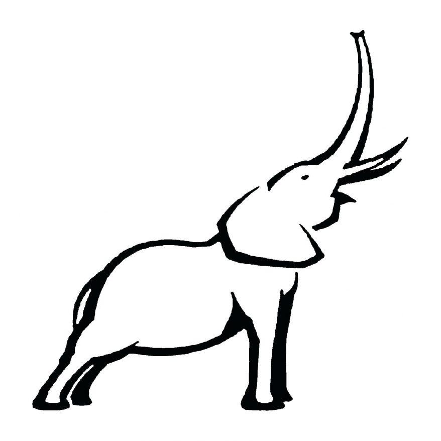 878x878 Elephant Outline 69 Interesting Face Clipart Elephant Head Outline