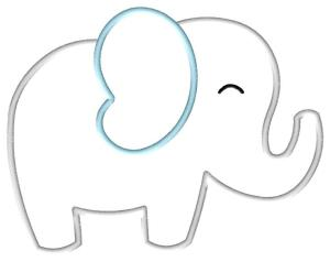 picture relating to Elephant Outline Printable called Uncomplicated Elephant Define Cost-free obtain easiest Very simple Elephant
