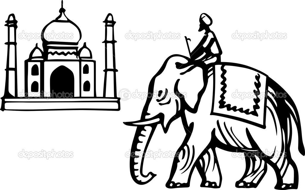 1024x639 Free Indian Elephant Clipart Image