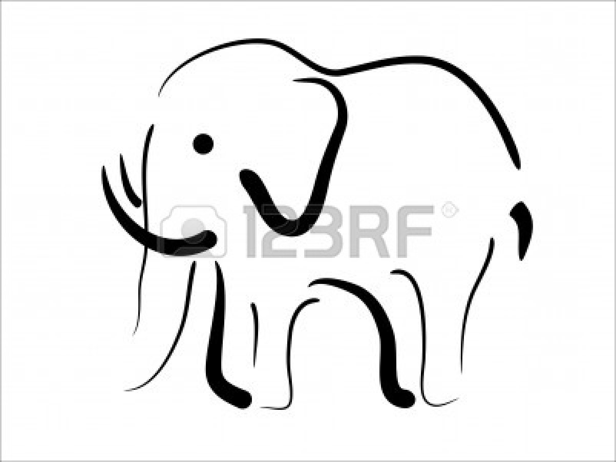 1203x903 Indian Elephant Drawing Outline Clipart Panda