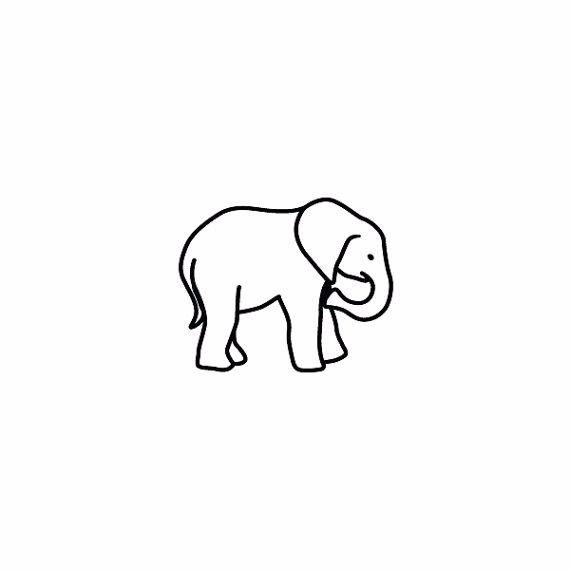 570x570 Outline Elephant Tattoos