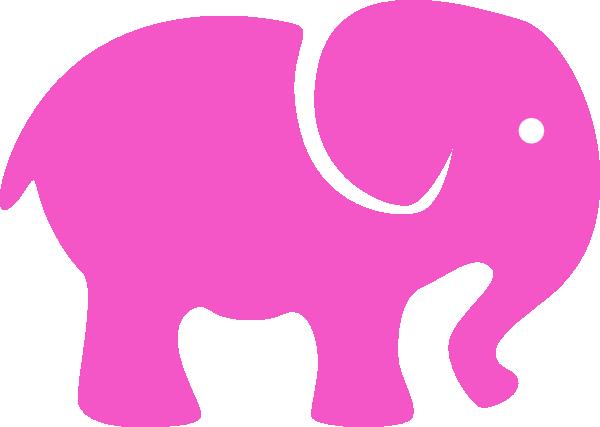 600x427 Pink Elephant Simple Clip Art