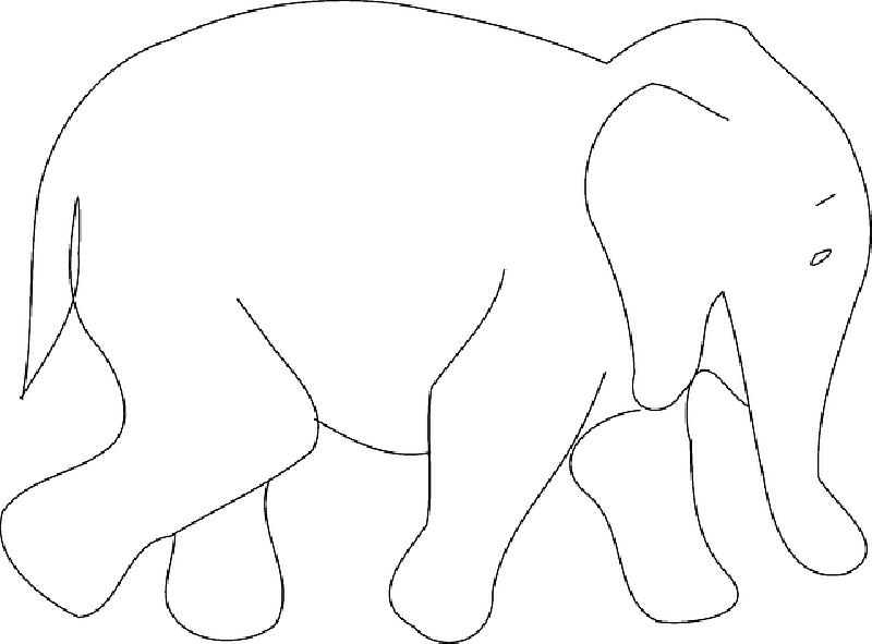 800x591 Simple, Africa, Outline, Elephant, Book, Asia, Art