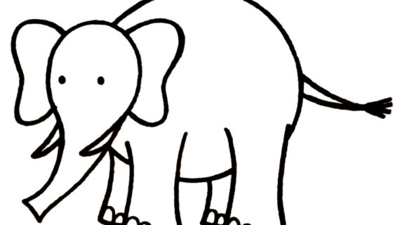570x320 Simple Drawing Of Elephant Simple Elephant Drawing