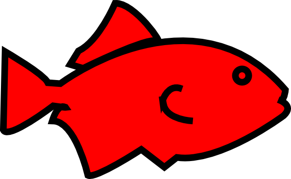 600x369 Fish Outline Red Clip Art