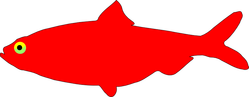 800x312 Free Simple Red Fish Clip Art