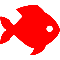 256x256 Red Fish Clipart