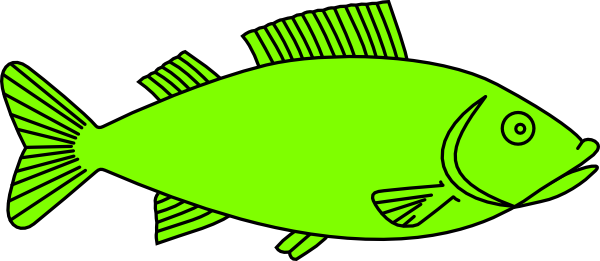 600x261 Salmon Clipart Simple Fish