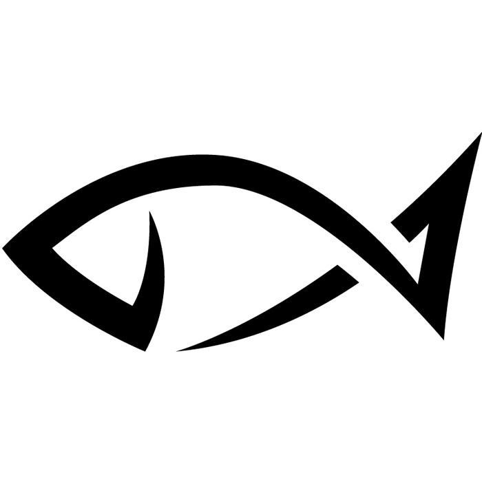 700x700 Simple Fish Outline Clipart