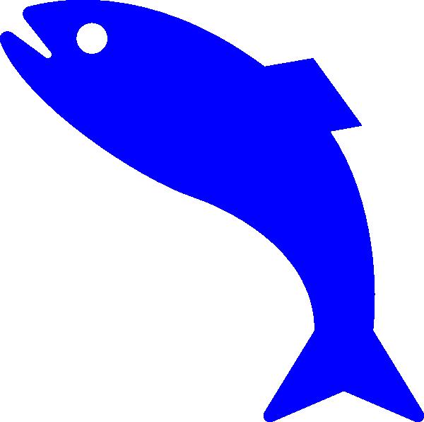 600x596 Blue Fish Clip Art