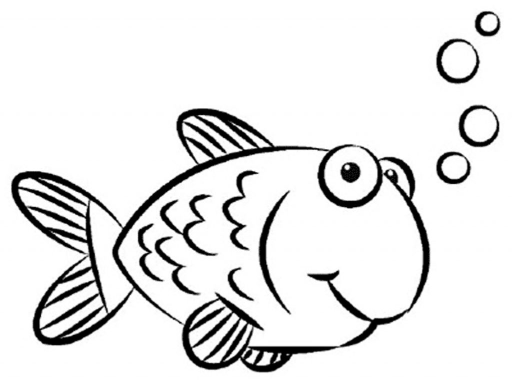 1024x773 Animals ~ Simple Fish Drawing For Kids Clip Art Puffer Coloring