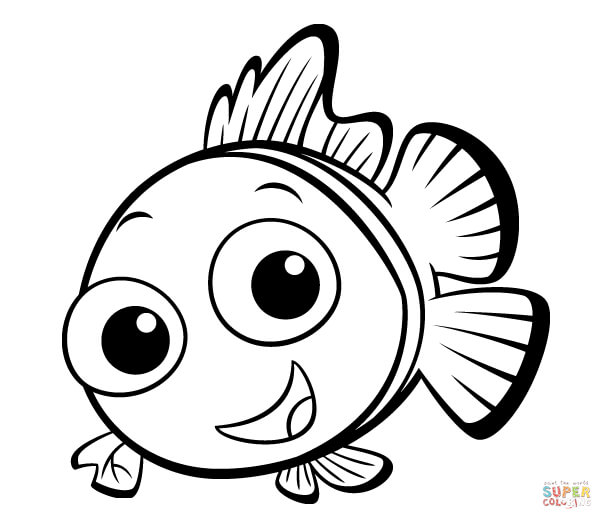 612x529 Simple Ideas Printable Fish Coloring Pages Drawing Clipartsco