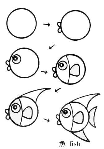 336x480 Best Easy Fish Drawing Ideas Easy Cat Drawing