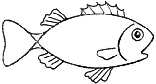 320x174 Drawing A Cartoon Fish With Easy Sketching Instructions