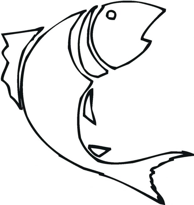 618x653 Images Simple Fish Outline