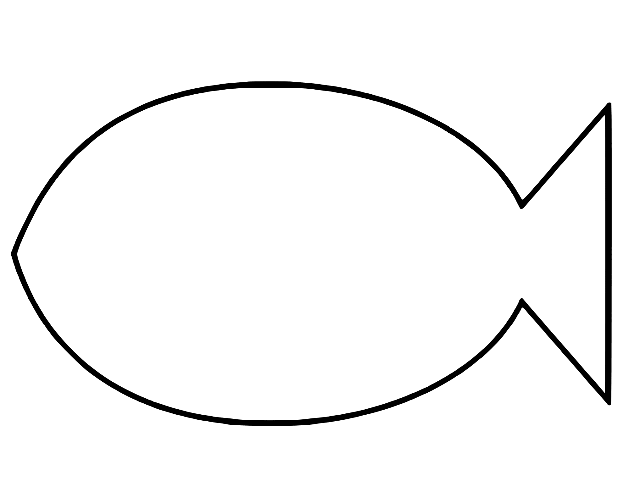 2000x1600 Simple Fish Coloring Pages