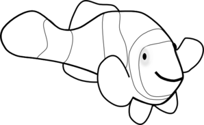 298x183 Fish Outline Clipart Free