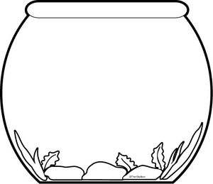 Fish outline bowl. Simple free download best