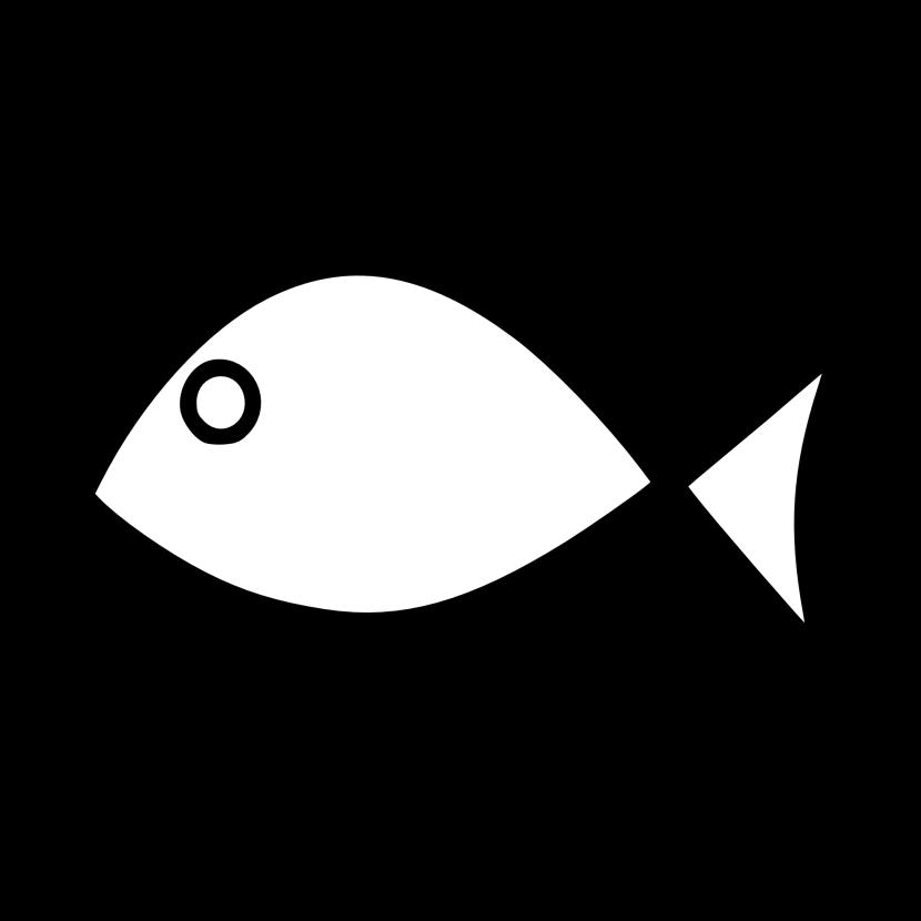 830x830 Fish Outline Clip Art