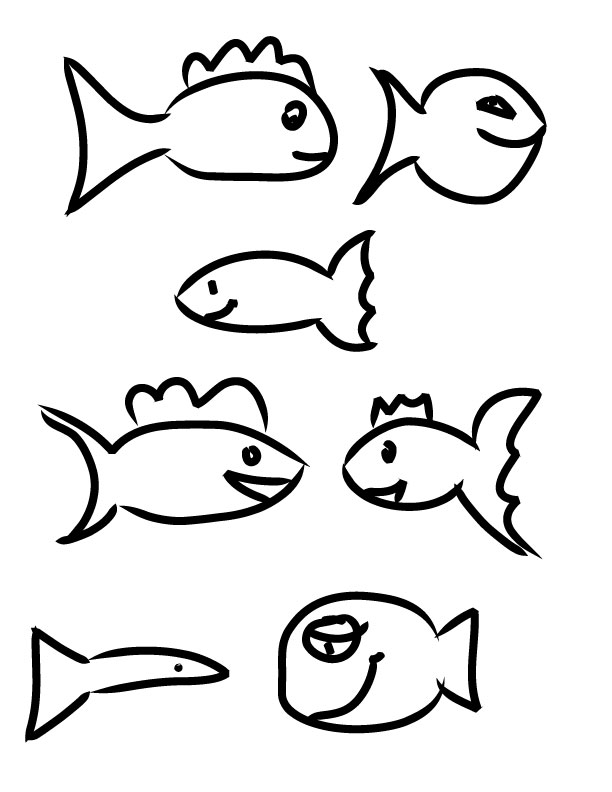 612x792 Fish Drawings For Kids Mesmerizing Fish Drawings For Kids Simple