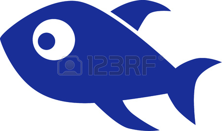 450x267 Fish Shoal With Blue And Two Red Fishes Royalty Free Cliparts