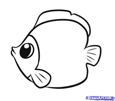 390x342 Easy To Draw Fish How To Draw A Simple Fish Step 5 For Details